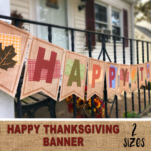 HAPPY THANKSGIVING BANNER – Digital file -Instant Download-