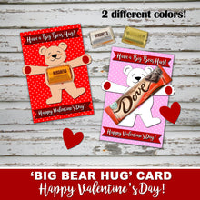 VALENTINE'S DAY BIG HUG Card - PDF and PNG files - Instant Download