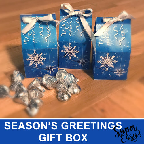 HAPPY HOLIDAYS GIFT BOX - DIY Gift for everybody! - Instant Download - PDF - Digital file -Instant Download-