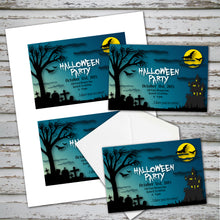 HALLOWEEN - Party Invitation -Halloween Cemetery party Invitation – Digital file