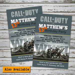 CALL of DUTY - WWII - Banner– Digital file -Instant Download-
