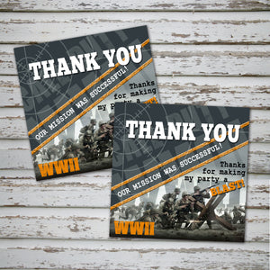 CALL of DUTY- WWII- Favor Tags - Birthday party -Instant Download-