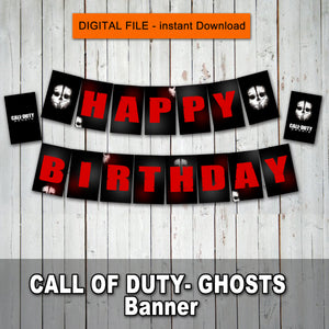 CALL of DUTY - GHOSTS - Banner– Digital file -Instant Download-
