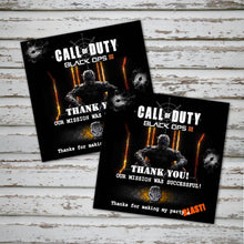 CALL of DUTY- Favor Tags - Birthday party -Instant Download-