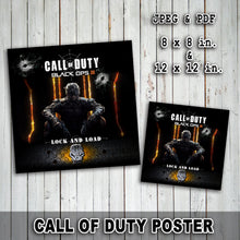 CALL of DUTY - Poster – Digital file -Instant Download-