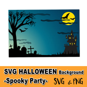 HALLOWEEN CEMETERY THEME SVG - Creepy Background! – Digital file
