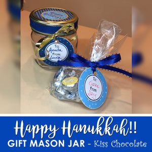 HAPPY HOLIDAY MASON JAR GIFT - PDF - Digital file -Instant Download-