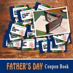 FATHER'S DAY Coupon Book - DIY Gift for Dad! - Instant Download
