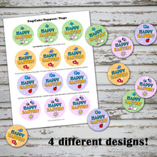 HAPPY EASTER Cupcake Toppers - PDF file - Instant Download