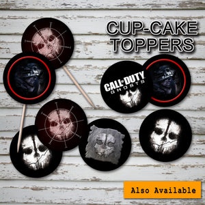 CALL of DUTY- GHOSTS - Chocolate Wrappers - Birthday party -Instant Download-