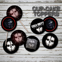 CALL of DUTY -GHOSTS - Cupcake Toppers – Digital file -Instant Download-