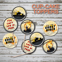 GHOST RIDER- CupCake Toppers – Digital file -Instant Download-