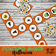 HALLOWEEN - DOMINO GAME – 10 PDFs -  Digital file -Instant Download-
