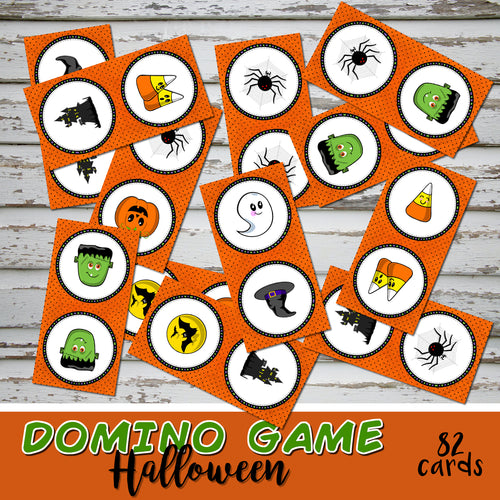 HALLOWEEN - DOMINO CARD GAME – Printed & Shipped-