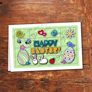 HAPPY EASTER Cards - PDF file - Instant Download