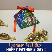 FATHER'S DAY GIFT Pyramid BOX - DIY Gift for Dad! - Instant Download