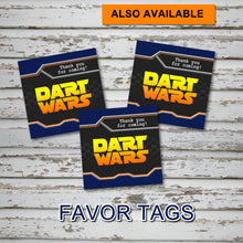 DART GUN WARS - Cupcake Flag Toppers – Collection #2 - Digital file -Instant Download-