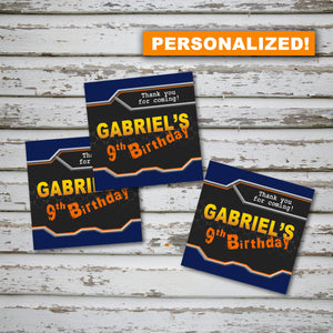 "DART GUN WARS - ""PERSONALIZED"" Favor Tags - Collection #2- Birthday party, Digital"
