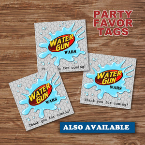 WATER GUN WARS- Water Bottle Wrappers – Digital file -Instant Download-