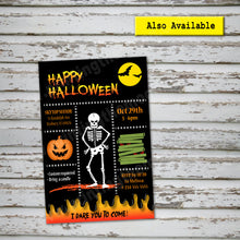 HALLOWEEN BANNER – Halloween Skeleton Party -Digital file -Instant Download-