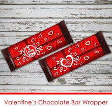 VALENTINE'S DAY Chocolate Bar Wrapper - PDF file - Instant Download