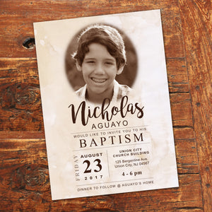 LDS BAPTISM INVITATION - CLASSIC Style -Religious Event– Digital file
