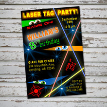 LASER TAG - Birthday Invitation - Laser Tag party – Digital file
