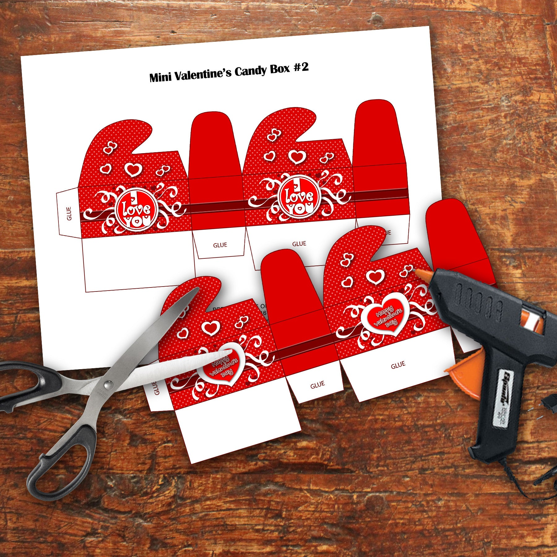 Valentine S Day Small Chocolate Boxes Pdf File Instant Download