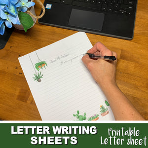 PRINTABLE LETTER WRITING SHEETS - Personal letter writing -Instant Download