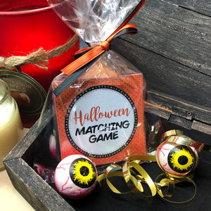 HALLOWEEN - MATCHING/MEMORY GAME – 9 pairs - Printed & Shipped