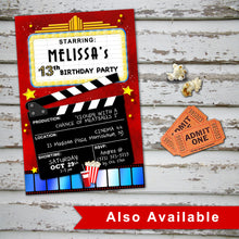 MOVIE THEATER - Birthday CUPCAKE TOPPERS - Movies Cinema party – Digital file