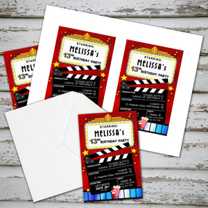 MOVIE THEATER - Birthday Invitation - Movies Cinema party – Digital file
