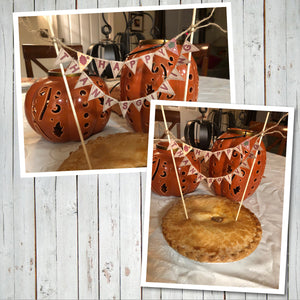 HAPPY THANKSGIVING MINI CAKE BANNER – Digital file -Instant Download-