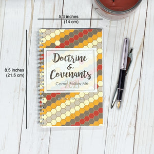 Come, Follow Me 2021 DOCTRINE & COVENANTS STUDY JOURNAL - Scripture Study Journal -Printed Notebook -Honeycomb - LDS Study Guide