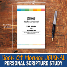 BOOK OF MORMON STUDY JOURNAL - Scripture Study Journal -Printed Notebook