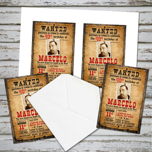OLDWEST - WILDWEST COWBOY  BIRTHDAY INVITATION - Cowboy party – Digital file