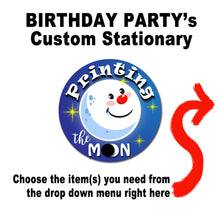 CUSTOMIZED PARTY ITEMS – Party Stationary Design - Digital files