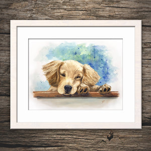 Pet Portrait Custom Watercolor painting - Original Painting, Memorial Art, Custom Dog Portrait gift idea printintgthemoon.com
