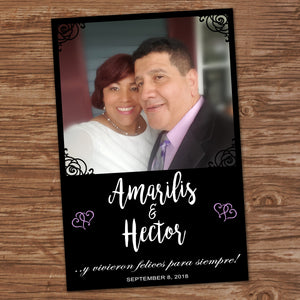 WEDDING WELCOME POSTER - One Picture Only - Different sizes - Digital file