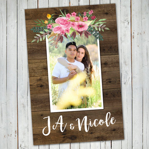WEDDING WELCOME POSTER - Watercolor Flowers - One Picture Only - Different sizes - Digital file