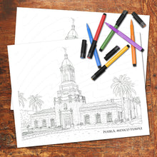 PUEBLA, MEXICO LDS TEMPLE - FREE Coloring Page - Digital download