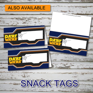 DART GUN WARS - Favor Tags - Collection #2 - Birthday party, Digital -Instant Download-