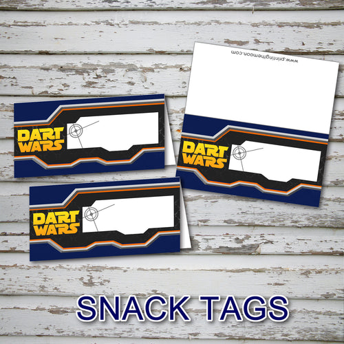 DART GUN WARS - SNACK Tags - Collection #2 - Birthday party, Digital -Instant Download-