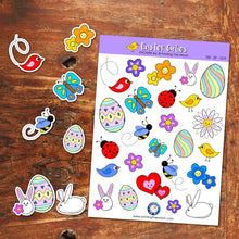EASTER CUTIES STICKER SHEET - Scrapbook and Planner Sticker Set - Stickers