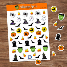 HALLOWEEN FUN SPOTS STICKER SHEET - Scrapbook and Planner Sticker Set - Stickers