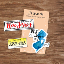 NEW JERSEY GIRLS STICKER SET - Scrapbook and Planner Sticker Set of 3 - Stickers