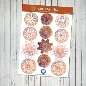 MANDALA STICKER SHEET - Scrapbook and Planner Sticker Set - Stickers