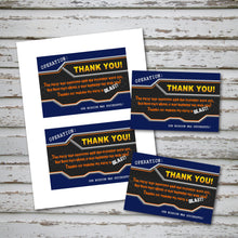 DART GUN WARS - Thank you Card - Collection #4 - Dart Gun Wars party – Digital file