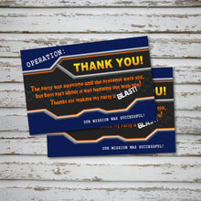 DART GUN WARS - Thank you Card - Collection #2 - Dart Gun Wars party – Digital file