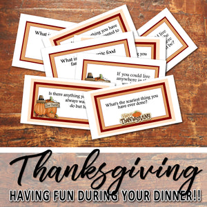 THANKSGIVING CARD GAME -Dinner table game- PDF file - Instant Download